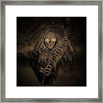 Old Reaper Framed Print by Michael Bergman