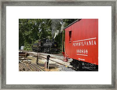 Old Red Caboose Framed Print by Paul W Faust -  Impressions of Light