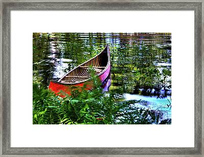 Old Red Canoe Framed Print by David Patterson