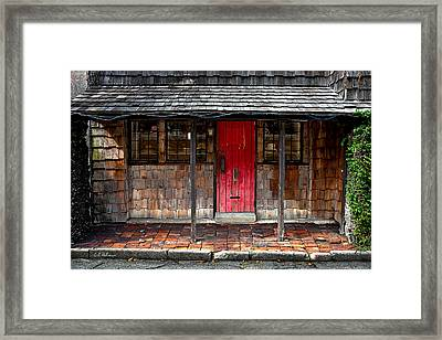 Old Red Door Framed Print by Christopher Holmes