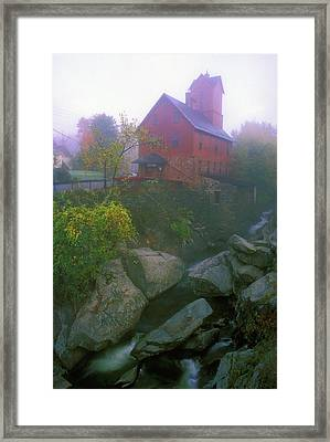 Old Red Mill Jericho Vermont Framed Print by John Burk