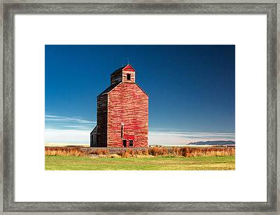 Old Red Framed Print by Todd Klassy