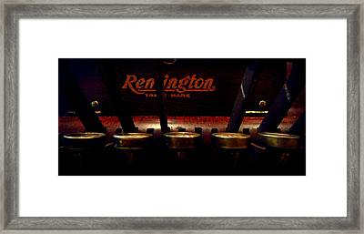 Old Remington Cash Register Framed Print by Lori Seaman