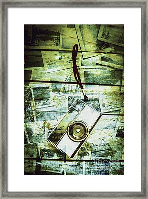Old Retro Film Camera In Creative Composition Framed Print by Jorgo Photography - Wall Art Gallery
