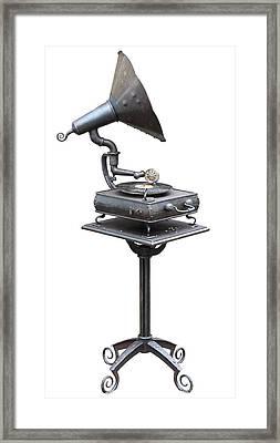 Old  Retro No Name  Vinil Record Player Framed Print by Aleksandr Volkov