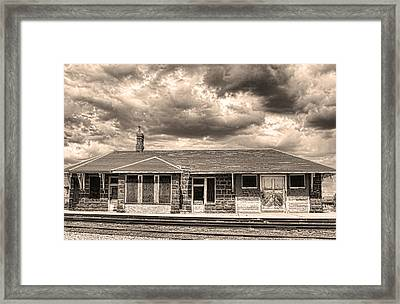 Old Rio Grande Train Stop Framed Print by James BO  Insogna