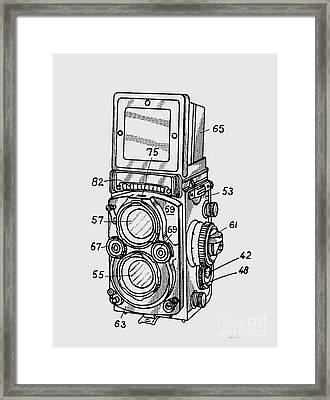Old Rollie Vintage Camera T-shirt Framed Print by Edward Fielding