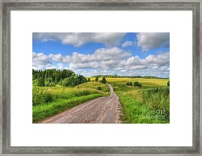 Old Rural Road Framed Print by Veikko Suikkanen