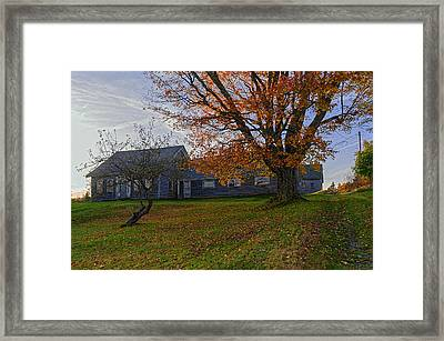 Old Rustic Farmhouse Framed Print by Marty Saccone