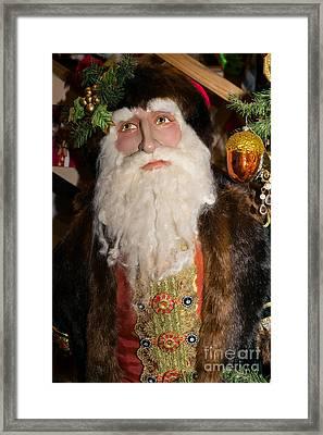 Old Saint Nick In Petaluma California Usa Dsc3765 Framed Print by Wingsdomain Art and Photography