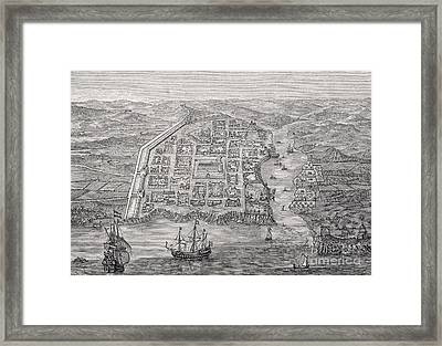 Old Santo Domingo City Framed Print by English School