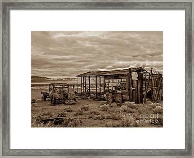 Old Schellbourne Station Framed Print by Robert Bales
