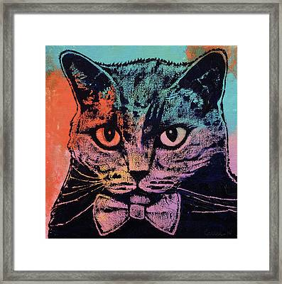Old School Cat Framed Print by Michael Creese
