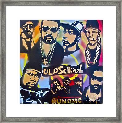 Old School Hip Hop 3 Framed Print by Tony B Conscious