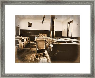 Old School Interior Framed Print by Scott Hovind