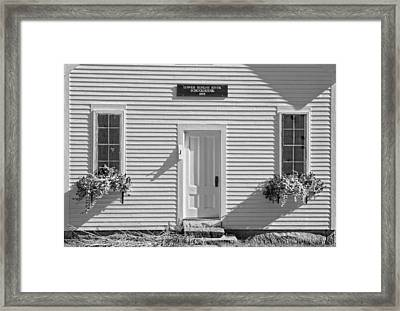 Old Schoolhouse Sunday River Maine Black And White Framed Print by Keith Webber Jr