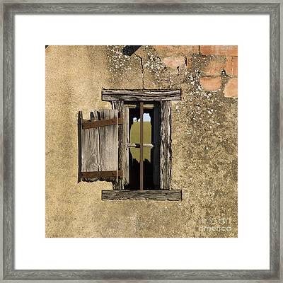 Old Shack Framed Print by Bernard Jaubert