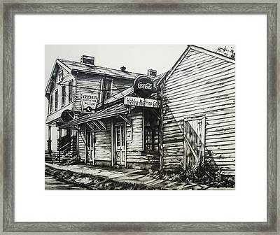 Old Shawneetown Framed Print by Michael Lee Summers
