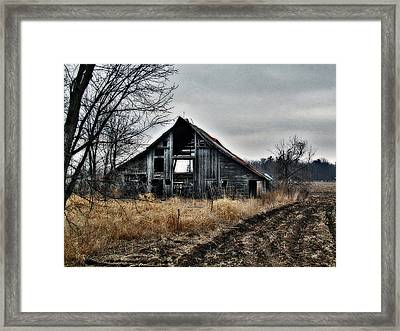 Old Shed Left By Itself Framed Print by Laurie With