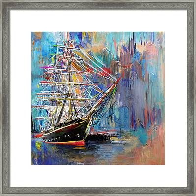 Old Ship 226 1 Framed Print by Mawra Tahreem