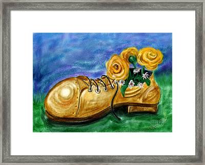 Old Shoe Planter Framed Print by David Kyte