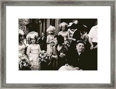 Old St Patricks   Mulberry Street Wedding Framed Print by Nat Herz