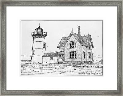 Old Stage Harbor Lighthouse Cape Cod Framed Print by Ira Shander