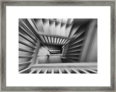 Old Staircase Framed Print by Henk Van Maastricht