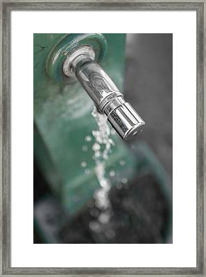Old Standpipe With A Water Jet. Framed Print by Germano Poli