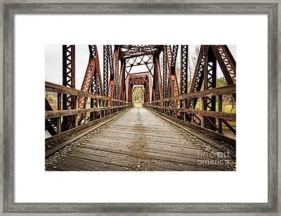 Old Steel Train Bridge Framed Print by Edward Fielding