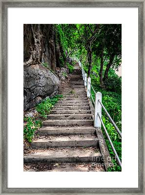 Old Steps Framed Print by Adrian Evans