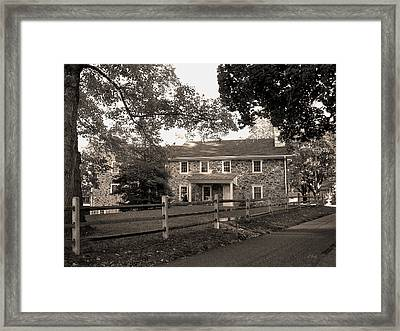 Old Stone Farmhouse Framed Print by Gordon Beck