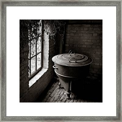 Old Stove Framed Print by Dave Bowman