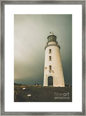 Old Style Australian Lighthouse Framed Print by Jorgo Photography - Wall Art Gallery