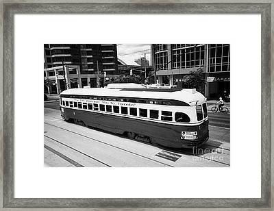 Old Style Toronto Transit System Ttc Tram Streetcar Ontario Canada Framed Print by Joe Fox