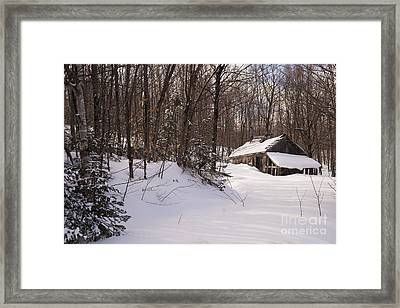 Old Sugar Shack Framed Print by Philippe Boite