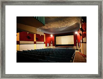 Old Theater Interior 1 Framed Print by Marilyn Hunt