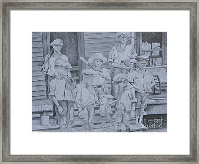 Old Time Baseball Framed Print by David Ackerson