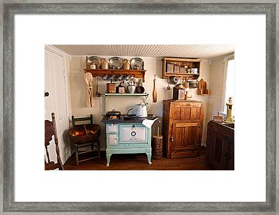 Old Time Farmhouse Kitchen Framed Print by Carmen Del Valle