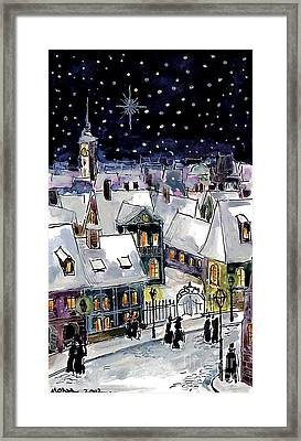 Old Time Winter Framed Print by Mona Edulesco