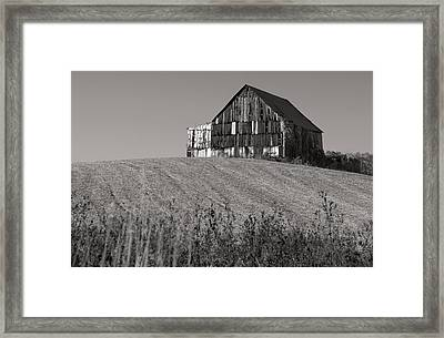 Old Tobacco Barn Framed Print by Don Spenner