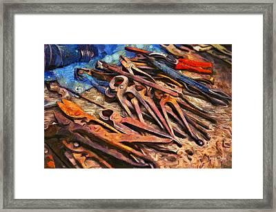Old Tools - Da Framed Print by Leonardo Digenio