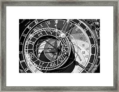 Old Town Clock Framed Print by John Rizzuto