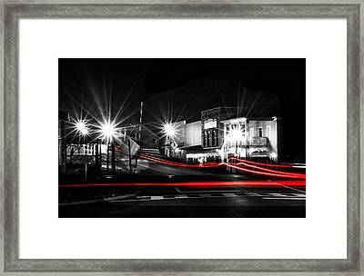 Old Town Helena At Night Framed Print by Shelby  Young