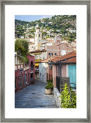 Old Town In Villefranche-sur-mer Framed Print by Elena Elisseeva