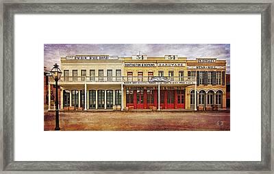 Old Town Sacramento Framed Print by Thom Zehrfeld
