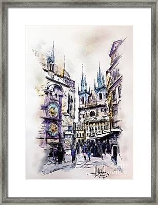 Old Town Square In Prague Framed Print by Melanie D