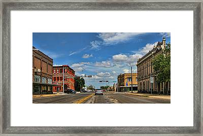 Old Town Taylor Intersection Framed Print by Linda Phelps