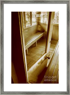 Old Train Cabin Framed Print by Jorgo Photography - Wall Art Gallery