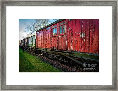 Old Train Wagon Framed Print by Adrian Evans